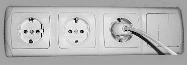 Розетки электрические, выключатели освещения